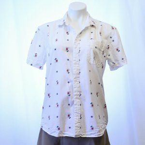 Short sleeved Mickey Mouse and Stars Blouse